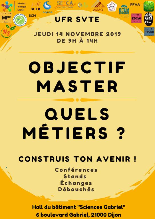 Journée des masters affiche 2019